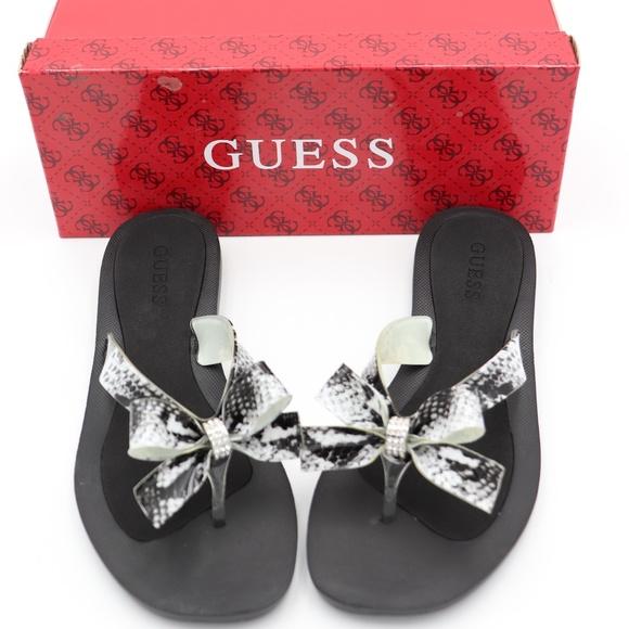 43c88a0227aeac NIB Guess tutu bow flip flop sandals 6